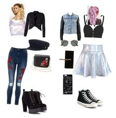 """School outfits"" by talitha-peverill on Polyvore featuring Jonathan Simkhai, rag & bone, Converse, Charlotte Russe, Yves Saint Laurent and Ray-Ban"