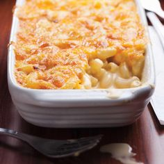 Macaronis gratinés au fromage (mac and cheese)