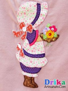 Camisetas com Sunbonnet Sue em patch aplique
