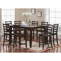 FAIR7-CAP 7-piece Pub-height Table Set