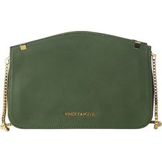 Vince Camuto Geo Crossbody ($168) ❤ liked on Polyvore featuring bags, handbags, shoulder bags, designer handbags, green, hand bags, man bag, green purse, shoulder handbags and green crossbody purse