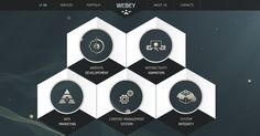 Hexagon web design 1