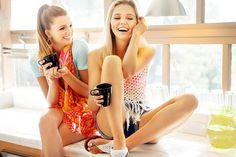女の子, お友達と, 友情, 若いです, 人, 喜び, 商業写真家, 楽しい