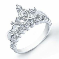 A Father gives his daughter a crown ring when dating is officially allowed to wear on her left ring finger--to remind her that she will always be HIS little Princess first-- and to remind her to only date boys who will treat her like a Queen--LOVE THIS!
