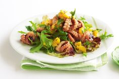 A rich source in protein, this lively octopus salad combines the fresh summer flavours of mango and chilli lime.