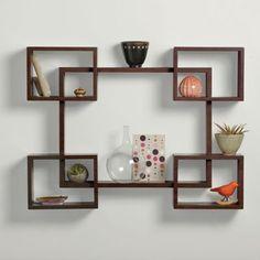 Real Simple® 5-Piece Interlocking Decorative Rectangle Shelf Set in Espresso - BedBathandBeyond.ca