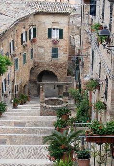 Corinaldo medieval town, Marche, Italy