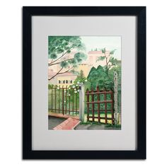 Valley Homes Matted Framed Painting Print