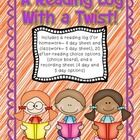**In Color  In Black and White**  This is a reading log that you can use for homework or a way to record or track reading during silent/indepe...