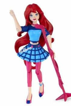 """Winx 3.75"""" Action Dolls Fairy Concert - Bloom by Winx. $4.61. Includes musical instrument accessories. Dolls have 9 points of articulation. Offers Winx Club ?X? on the back of all dolls allowing for magical transformation from girl to fairy. Possability allows more playability (rockin? poses and cool dance moves). Available in all 6 characters: Bloom, Stella, Flora, Tecna, Aisha and Musa. From the Manufacturer                When the Winx Club fairies take a break from sav..."""