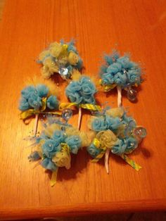 Owl baby shower corsages