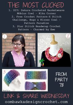Welcome to our Link and Share Wednesday Party! Add your links today! Share as many links as you wish to family friendly, fibre arts, DIY, crafts, recipes - and related projects. Check below. Free Crochet, Knit Crochet, Crochet Hats, Scarf Hat, Star Stitch, Crochet Patterns, Crochet Ideas, Head Wraps, Basket Weaving