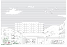 Higher ground - Architecture drawing - Section - Perspective - Catania - Arcipelago - architettura collettiva
