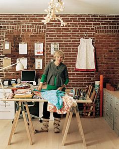 Lotta Jansdotter's sewing studio featured in Martha Stewart Magazine