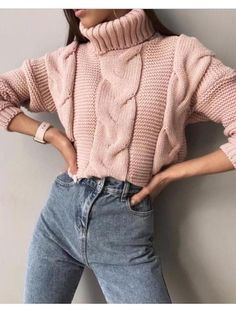 1b1fa0ae9d New Pink High Neck Dolman Sleeve Oversize Casual Pullover Sweater. Pullover  Sweaters ...