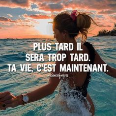 Plus tard il sera trop tard. Ta vie, c'est maintenant. Tu aimes? Fais le nous savoir, suis et partage avec tes amis! ➡️ @npmusik for love quotes! #scienceofwaves #citations #citation #réussite #motivation #inspiration #succès #courage #force #vie #maintenant #présent #instant #entrepreneur