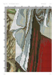 ♥ My Dot Graphics ♥ lui: Isus Good Shepherd în Cross Stitch Chart