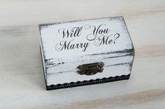Ring Bearer Box Wedding Ring Box Proposal Ring by MyHouseOfDreams