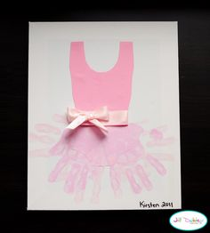 Handprint Ballerina Tutu - wish I had seen this when Liv was just a tiny dancer!!