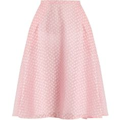 Thierry Colson Ikat fil coupé silk-gauze skirt ($204) ❤ liked on Polyvore featuring skirts, pink, thierry colson, ikat skirt, ikat print skirt, pink skirt and pink a line skirt