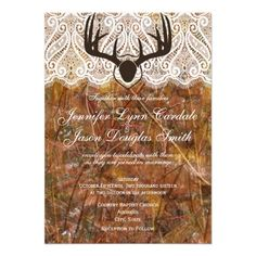 Rustic Country Camo Hunting Antlers Wedding Invitations http://www.zazzle.com/rustic_country_camo_hunting_antlers_wedding_invite-161758128337132636?rf=238133515809110851