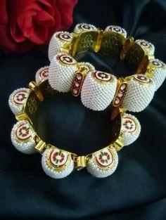 Buy Rajasthani Moti Kada (Pearl Bangle) at Rs 2700 - Indian Bridal Jewellery
