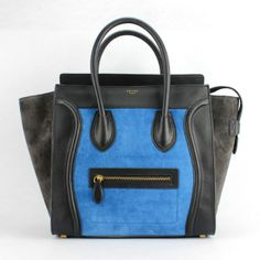 Celine 88022 Sky blue with black with coffee
