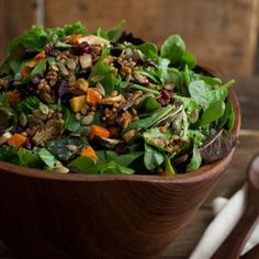 Vegan Wheatberry Salad with Harvest Roasted Vegetables - sub agave for honey