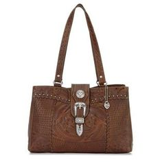 American West Leather Products American West Large 3 Compartment Shopper Handbag