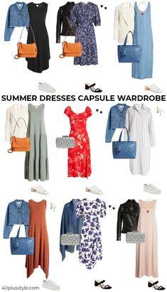 Summer dresses capsule wardrobe | 40plusstyle.com