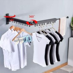 Space Saving Gadgets – good idea products shop Heavy Duty Clothes Rack, Clothes Hanger Rack, Clothes Drying Racks, Clothes Dryer, Wall Mounted Drying Rack, Laundry Room Bathroom, Laundry Closet, Laundry Rooms, Drying Rack Laundry