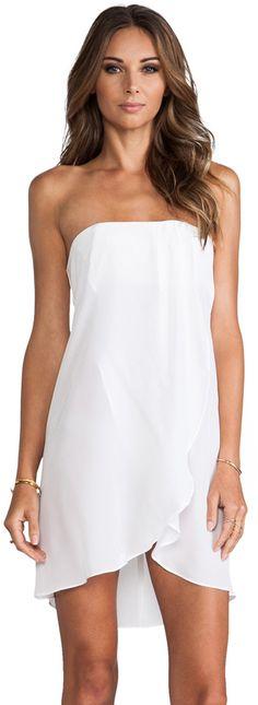 Helena Quinn Strapless Asymmetric Hem Dress on shopstyle.com