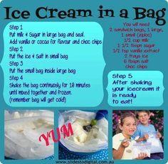 Ice cream n a bag