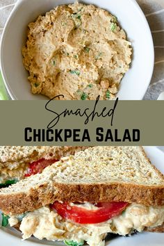 Chickpea Recipes, Chickpea Salad, Vegetarian Recipes Dinner, Veg Recipes, Snack Recipes, Dinner Recipes, Cold Sandwiches, Delicious Sandwiches, Doja Cat