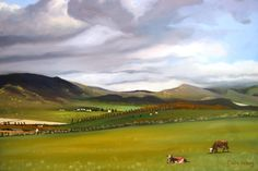 Overberg Landscape 1  Oil on canvas  20 x 30 inches  For Sale: www.artgrethahelberg.yolasite.com