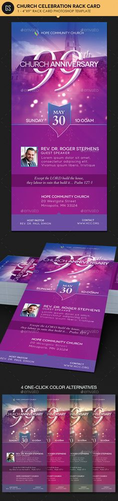 Church Celebration Rack Card - Photoshop