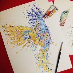 Watercolorist: @anaensh #waterblog #color #art #paint
