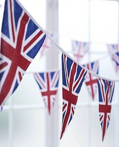 union jack bunting--for our queen's jubilee party