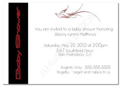 Printable Baby Shower Invitation Black and by attitudesindesign, $7.00