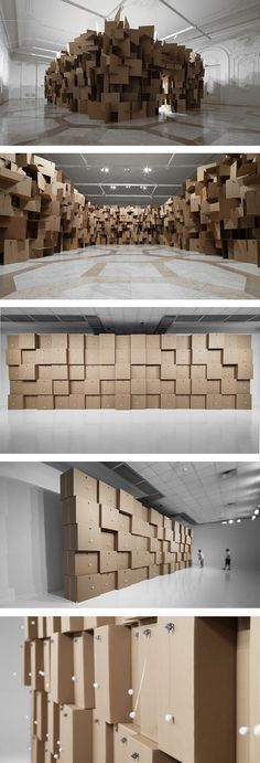 Acoustic architectures: by Zimoun, a sound artist/sculptor who builds different kinds of white noise into structures.