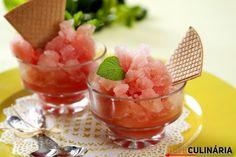 Sorvete de melancia, sabe como se prepara ?