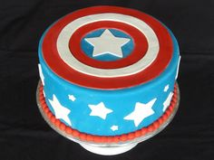 Captain America Cakes – Decoration Ideas | Nibble Cakes