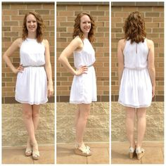 This dress has a sparkly waist and distressed top! The perfect combination of sweet and edgy!