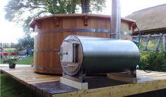 Wood-fired hot tub h