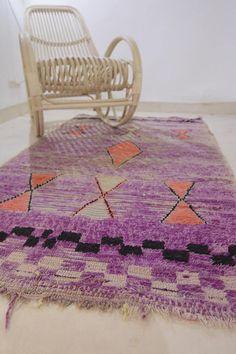 Authentic Vintage Moroccan Boujaad Rug Handmade Carpet