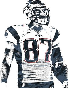 Rob Gronkowski NEW ENGLAND PATRIOTS PIXEL ART 3 Art Print by Joe Hamilton. All prints are professionally printed, packaged, and shipped within 3 - 4 business days. Messi, Dallas Cowboys Wallpaper, New England Patriots Merchandise, Joe Hamilton, New England Patriots Football, Patriotic Outfit, Thing 1, Rob Gronkowski, Sports Wallpapers
