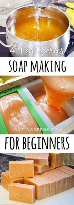 Natural Soap Making for Beginners -- a free 4-part series including information on ingredients, equipment & safety, soap recipes, and the cold process soap making process #soapmakingforbeginners #makesoap