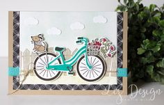 Stampin Up Bike Ride Card by Stampin with Liz Design