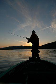 Lake Guntersville fishing sunset