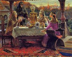 Tea Bans or How to Drink Tea Properly – Tables and desk ideas Russian Tea, Russian Beauty, Russian Folk, Marcel Proust, Virginia Woolf, 1 John, Agatha Christie, Tim Burton, 16th Century Fashion